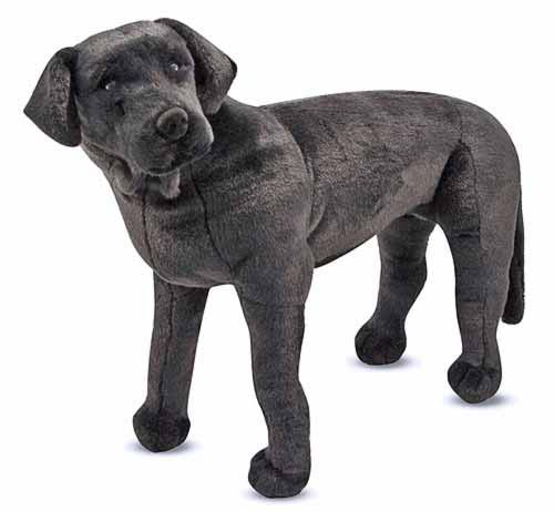 Black Lab Stuffed Dog
